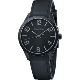 Calvin Klein Silicone Mens Watch K5E514B1