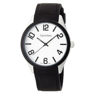Calvin Klein Silicone Mens Watch K5E51CB2