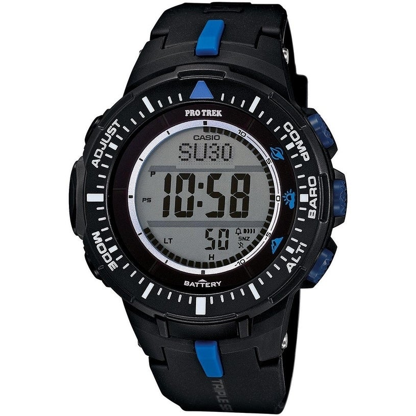 Casio Pro-Trek Solar Mens Watch PRG300-1A2CR, Clear, Size...