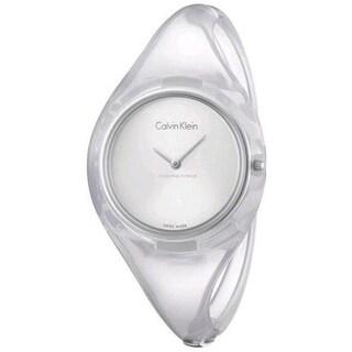 Calvin Klein Transparent Ladies Watch K4W2SXK6