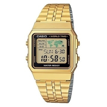 ddf8f7d9dc0 Shop Casio Gold- Tone Digital Retro Alarm Chronograph Mens Watch A500WGA-1D  - Free Shipping Today - Overstock - 17237968