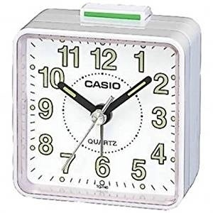 Casio Beep Alarm Clock TQ-140-7D, Clear