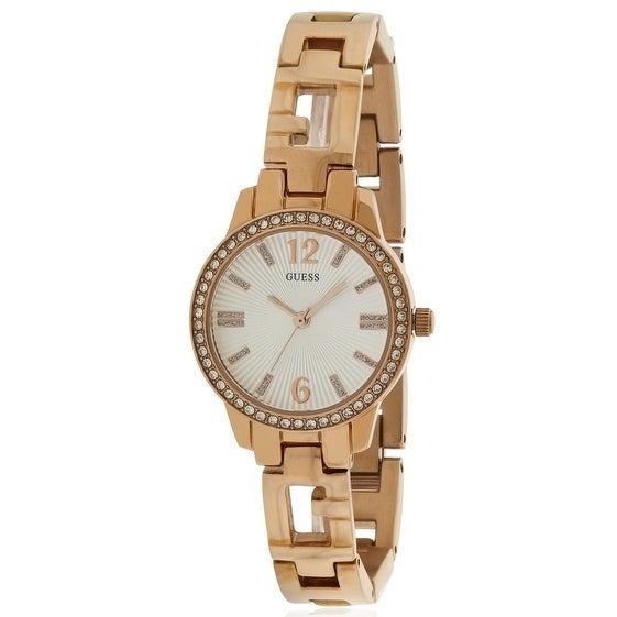 Guess Rose Gold-Tone Ladies Watch U0568L3, Silver, Size O...