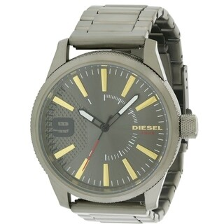 Diesel Rasp Gunmetal Stainless Steel Mens Watch