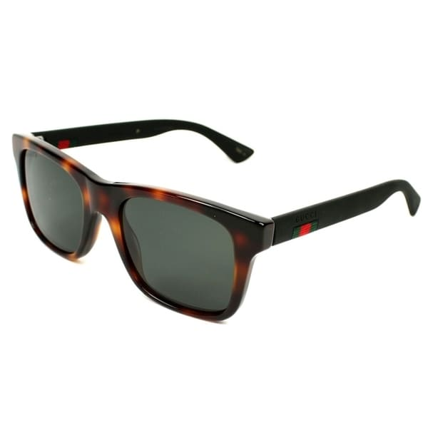 49b62a6a87be Shop Gucci Havana Black Mens Sunglasses - GG0008S-006 - Free Shipping Today  - Overstock - 17238243