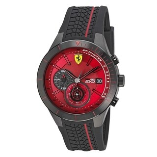Ferrari Scuderia Rubber Chronograph Mens Watch