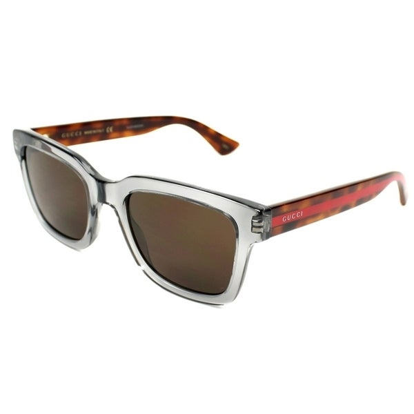 a3dd262e7eb1d Shop Gucci HavanaGrey Mens Sunglasses - GG0001S-005 - Free Shipping Today -  Overstock - 17238293