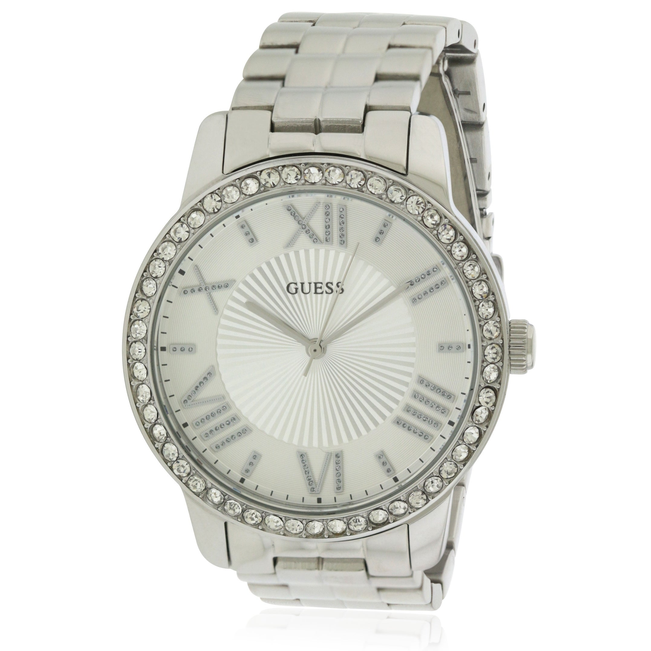 Guess Stainless Steel Ladies Watch U0329L1, White, Size O...