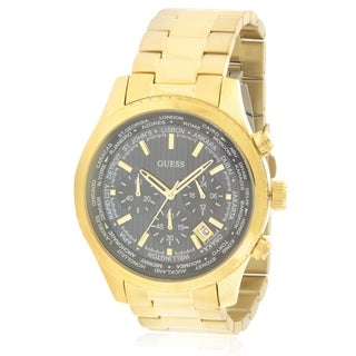 GUESS Gold-Tone Mens Watch