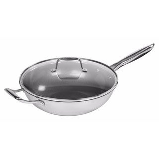 Iris Stainless Steel 12-inch Covered Wok