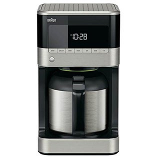 Braun BrewSense 10-cup Drip Coffee Maker with Thermal Carafe-stainless/black