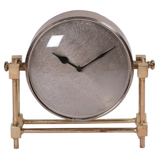 Renwil Time Brass Plated Clock