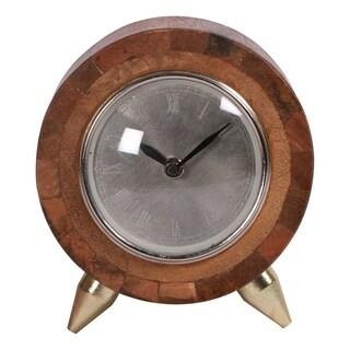 Renwil Sage Mango Wood Clock