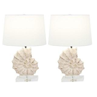 Urban Designs Coastal Shell 24-Inch Table Lamp (Set of 2)