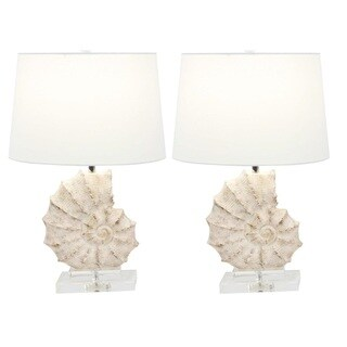 Urban Designs Coastal Shell 24-Inch Table Lamp (Set of 2)