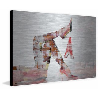'Red Panties' Painting Print on Brushed Aluminum