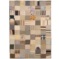 Handmade Herat Oriental Indo Memory Foam Cotton Patchwork Rug - 5'4 x 7'6 (India)