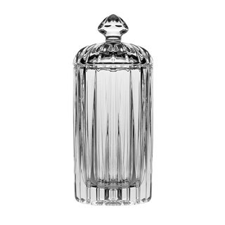 "Crystal Covered Round Swab Holder, 5.5"" H"