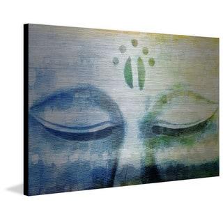 'Meditation' Painting Print on Brushed Aluminum