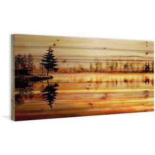 Handmade Chanannes Print on Natural Pine Wood