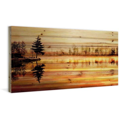 'Chanannes' Painting Print on Natural Pine Wood - multi