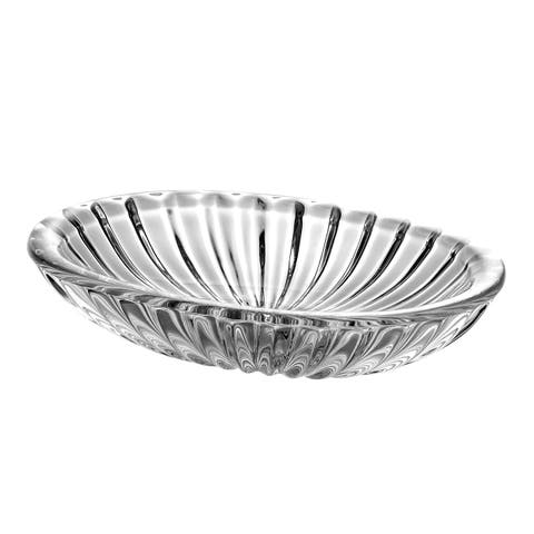 "Oval Crystal Soap Dish, 5.75"" L"