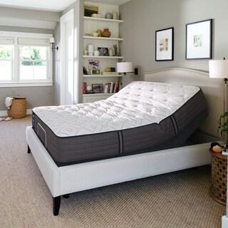 Sealy Response Performance 12.5-inch Cushion Firm California King-size Gel Memory Foam Ease Adjustable Mattress Set