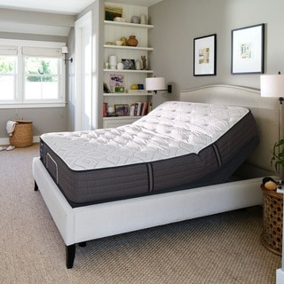 Sealy Response Performance 12.5-inch Plush Queen-size Mattress with Ease Adjustable Base