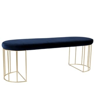 Canary Glam Dining / Entryway Bench in Gold