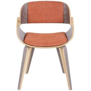 Fortunato Mid-Century Modern Dining/Accent Chair in Wood and Fabric