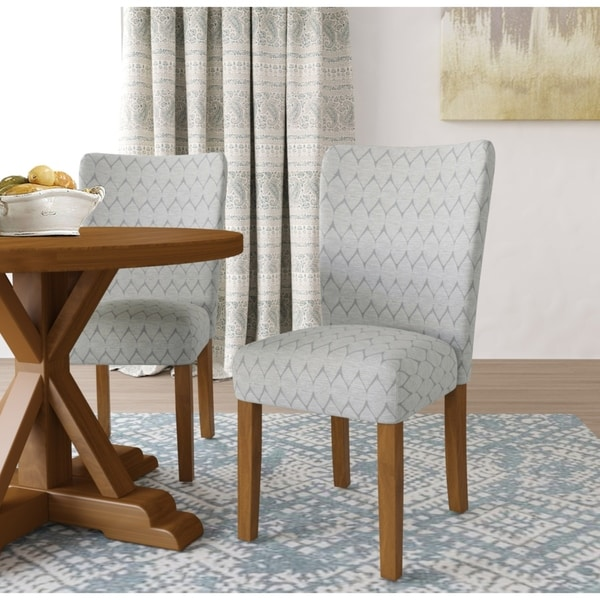 HomePop Textured Parsons Chair   Set Of 2