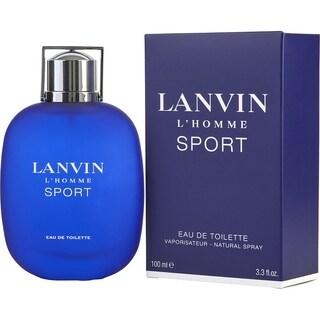 Lanvin L'Homme Sport Men's 3.3-ounce Eau de Toilette Spray