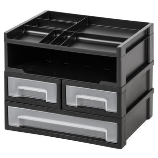 IRIS 5-Piece Desk Top Organizer, Black