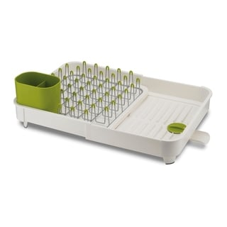 Extend Expandable Dishrack with Draining Plug in White
