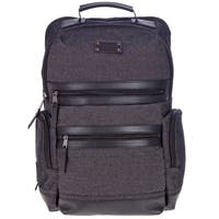 "Renwick 15.5"" Canvas Backpack with Genuine Leather Trim"