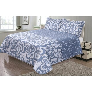 Journee Home 'Kim' 3-pc Reversible Printed Quilt Set