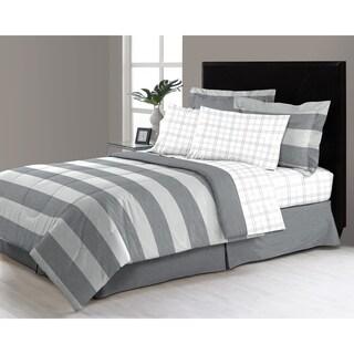 Briggs Grey 6 - 8 Piece Complete Bed in a Bag Set