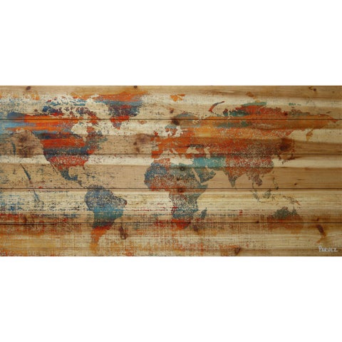 'Warm World' Painting Print on Natural Pine Wood
