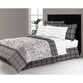 East Millburn Grey 6 - 8 Piece Complete Bed in a Bag Set