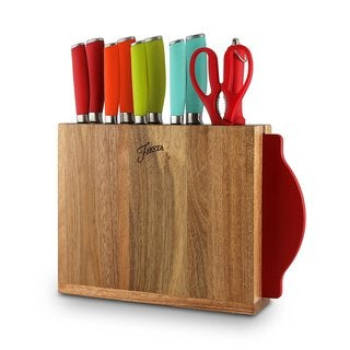 Fiesta Multicolor Silicone/Stainless Steel 12-piece Cutlery and Block Set