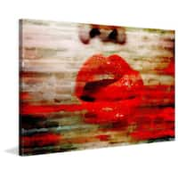 'Lick My Lips' Painting Print on Wrapped Canvas