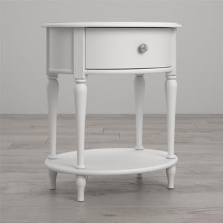 Little Seeds Rowan Valley Laren White Oval Nightstand
