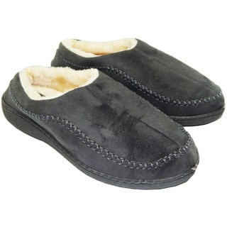 Vecceli Men's Faux Suede Fur Lined Haflingers Slippers|https://ak1.ostkcdn.com/images/products/17239187/P23494100.jpg?impolicy=medium