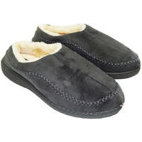 Vecceli Men's Faux Suede Fur Lined Haflingers Slippers