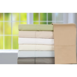 600 Thread Count Solid Cotton Sateen Sheet Set