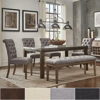 Cassidy Stainless Steel Top Rectangle Dining Table Set by iNSPIRE Q Artisan