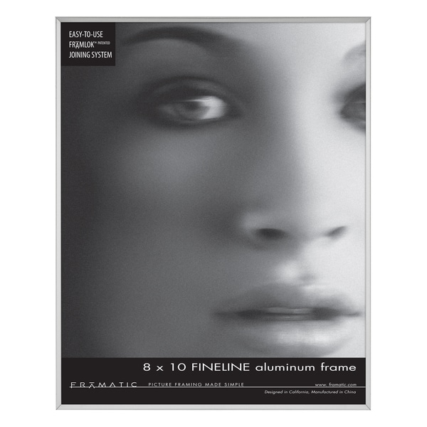 Fineline Silver 8-inch x 10-inch Picture Frame