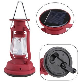 SINTECHNO SODA-0307 Hand Crank and Solar Rechargeable Power Emergency Camping Lantern