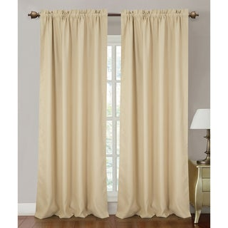 RT Designers Collection Solid-colored Orient Blackout 90-inch Rod Pocket Curtain Panel