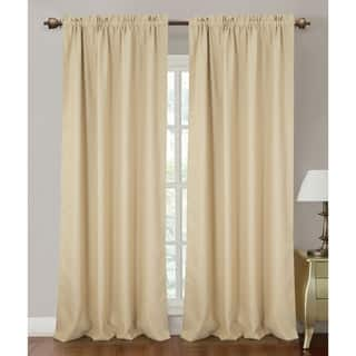 Rt Designers Collection Solid Colored Orient Blackout 90 Inch Rod Pocket Curtain Panel